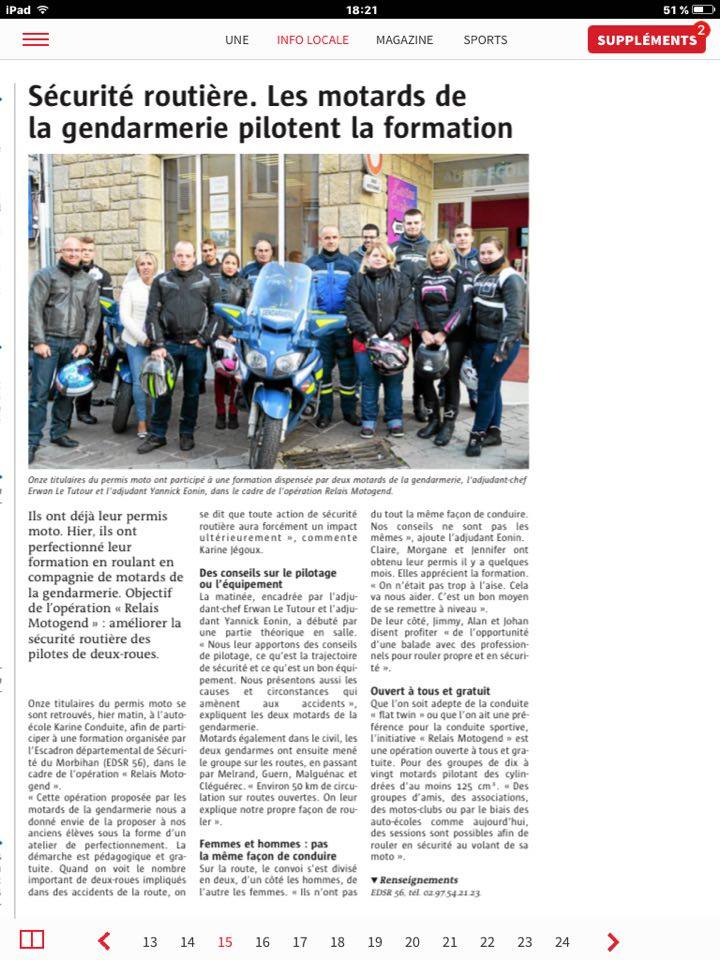 article télégramme copy